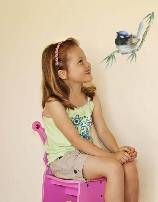 Blue Wren Decal by