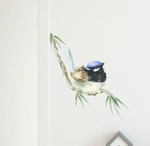 Blue Wren Wall Sticker