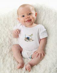 Blue Wren Baby Bodysuit / Onesie