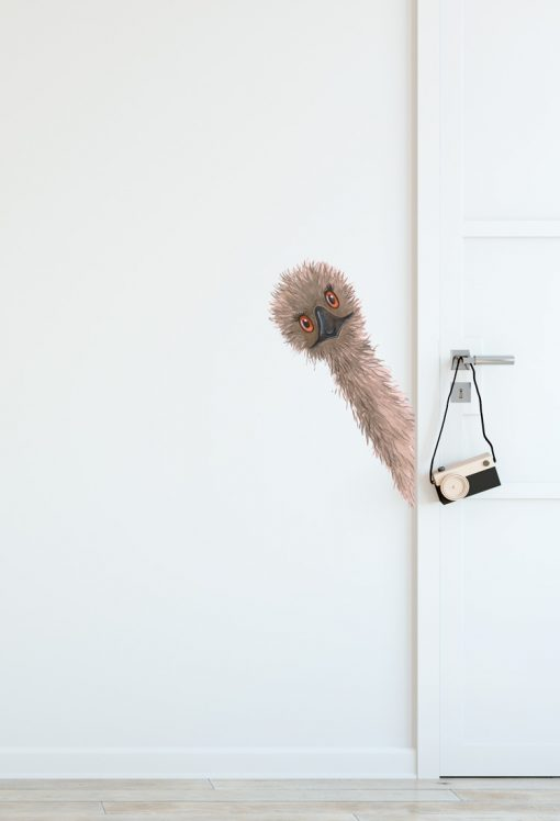 Peeking Emu Wall Sticker