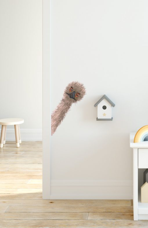 Peeking Emu Wall Sticker