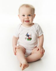 Christmas Baby Bodysuit Blue Wren
