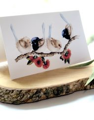 Blue Wrens Greeting Card