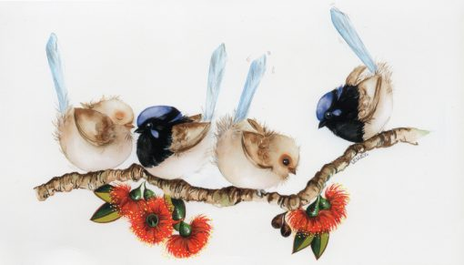 Blue Wrens Greeting Card