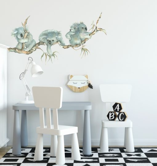 Koala Sticker sitting on a Branch removable wall sticker