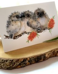 Tawny Frogmouth Chicks Greeting Card