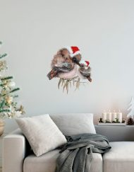 Christmas Kookaburra with Baby Wall Sticker