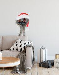 Christmas Emu Wall Sticker