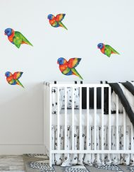 Flying Rainbow Lorikeet wall stickers