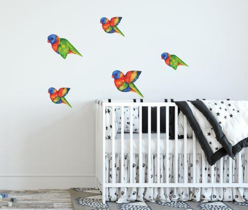 Flying Rainbow Lorikeet wall stickers