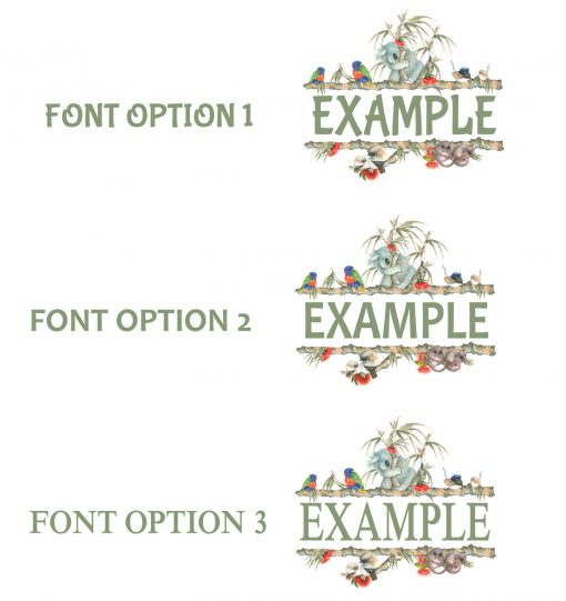 Font Options Aussie Friends Name Plaque Wall Sticker