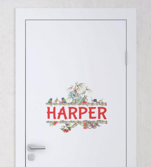 Door Name Sticker