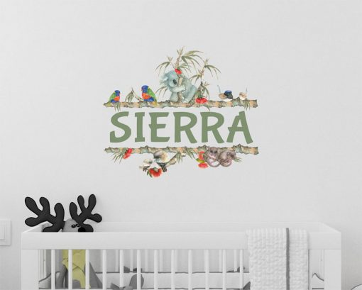 Personalised Name Wall Sticker close up 1