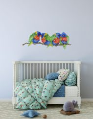 Rainbow Lorikeet Branch Wall Sticker