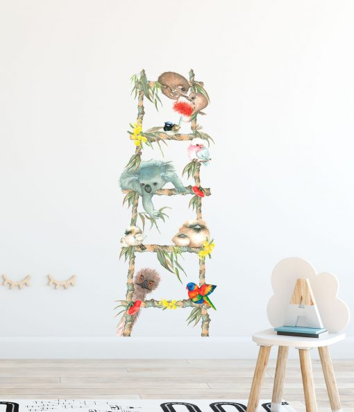 Australian Animal Nursery Wall Sticker Ladder