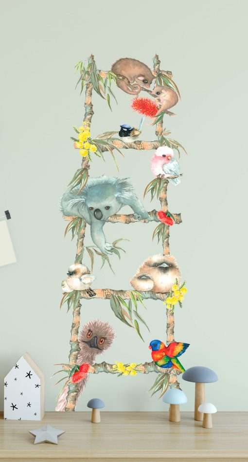Australian Animal Nursery Wall Sticker Ladder