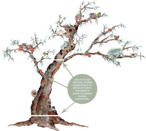 Australian Animal Tree Nursery wall sticker