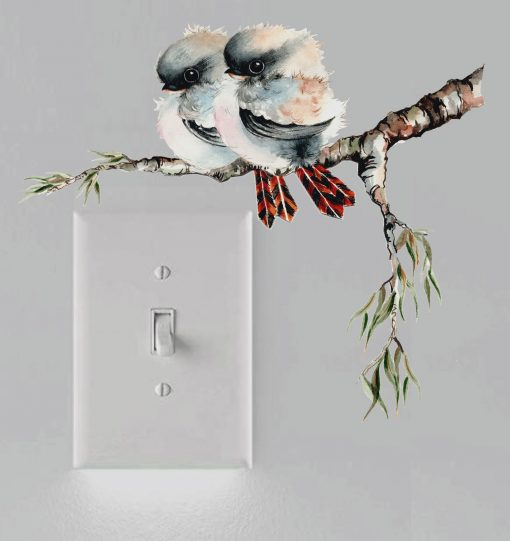 Kookaburra Light Switch Wall Sticker Decal