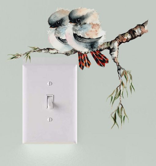 Kookaburra Light Switch Wall Sticker Decal