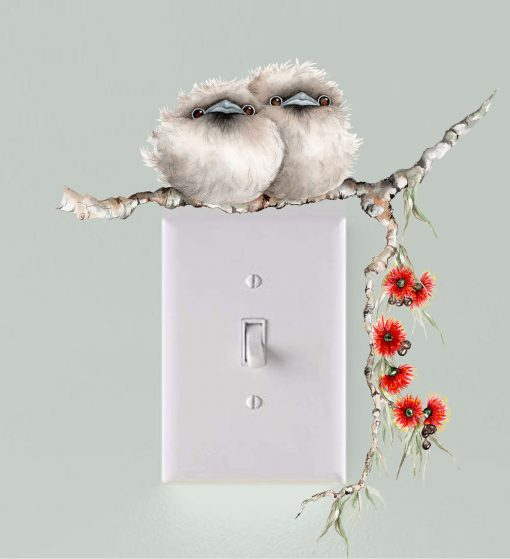 Tawny Frogmouth Light Switch Wall Sticker Decal