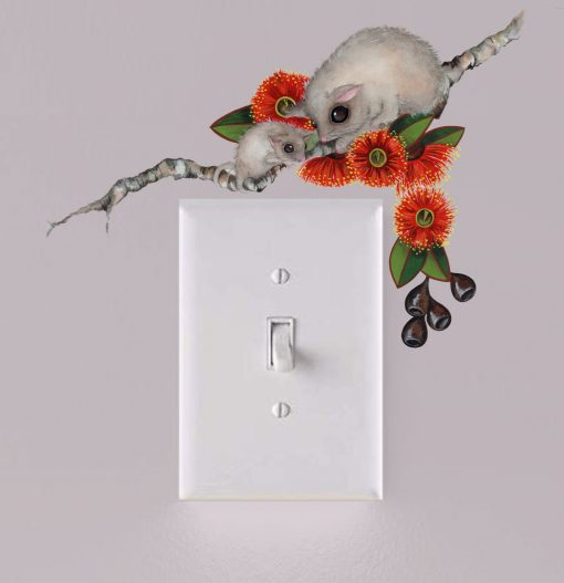 Possum Light Switch Wall Sticker Decal