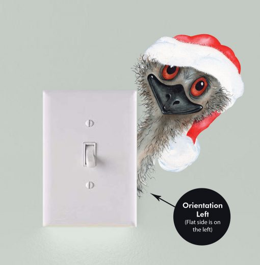 Peeking Christmas Emu Light Switch