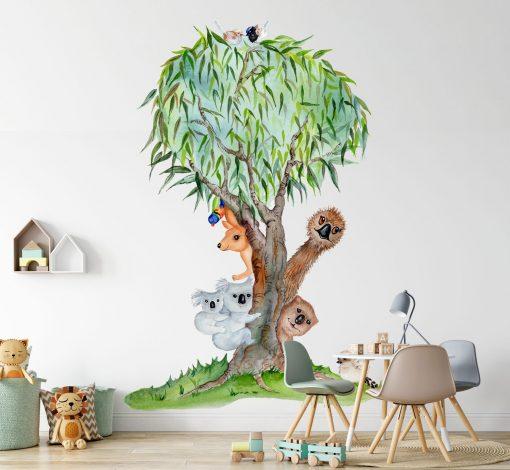 Aussie Mates Tree Wall Sticker