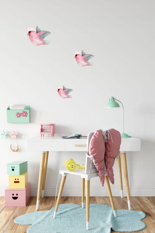 Flying Galahs Wall Sticker