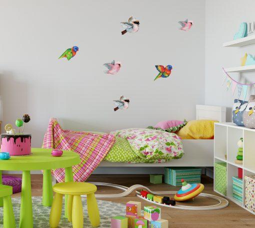 Flying Bird Mixed Wall Sticker Pack