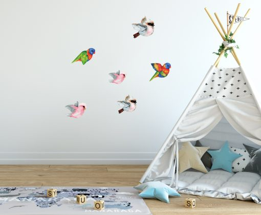 Flying Birds Mixed Wall Sticker Pack
