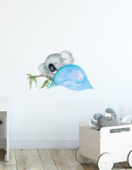 sleepy Koala Wall Sticker Blue