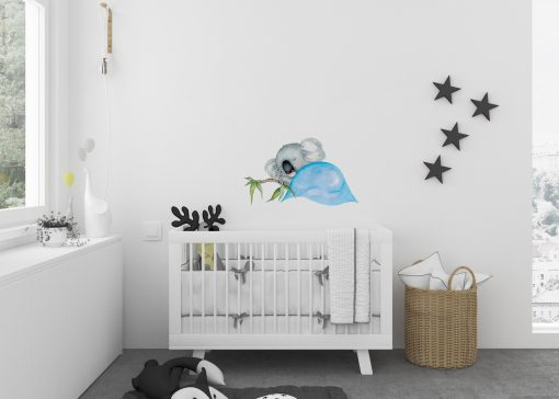 sleepy Koala Wall Sticker Blue