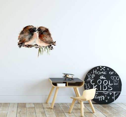 Tawny Frogmouth Twins Wall Sticker