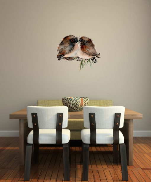 Twins Tawny Frogmouth Wall Sticker