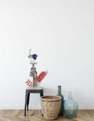 Blue Wren on Tap Wall Sticker
