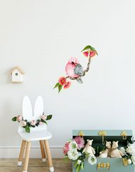 Galah Single on Branch Wall Sticker