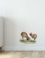 Emu Chicks Wall Sticker