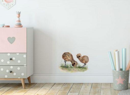 Emu Chicks Wall Sticker