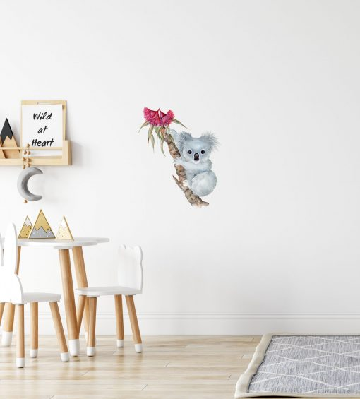 Koala Baby with Gum Blossoms Wall Sticker