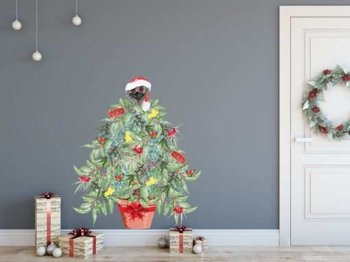 Aussie Christmas Tree Wall Sticker