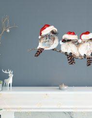 Christmas Kookaburra Branch Wall Sticker