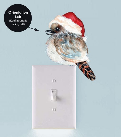 Christmas Kookaburra Light Switch Wall Sticker Decal