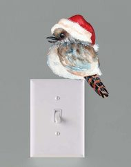 Christmas Kookaburra Light Switch Wall Sticker Decal