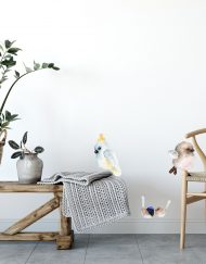 Pack of Resting Birds Wall Sticker