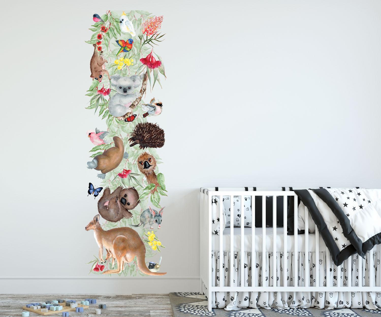 Bush Babies Growth Chart Wall Sticker - Removable Wall Decals Australia