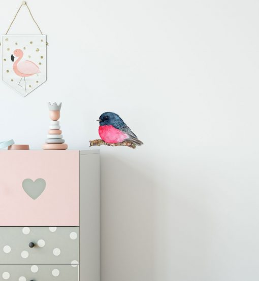 Pink Robin Wall Sticker