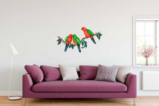 King Parrot Branch Wall Sticker